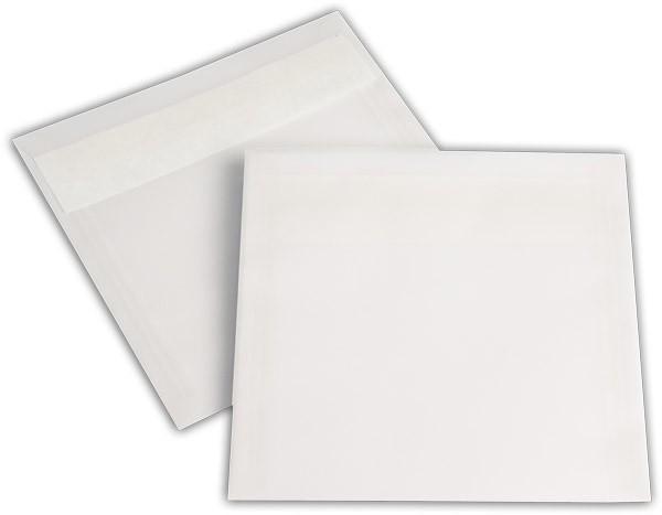 Briefumschläge transparent Haftstreifen o. F. Weiss 170x170 mm 100g/qm