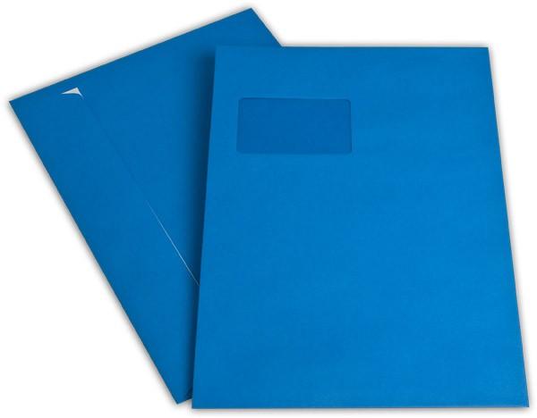 """Briefumschläge mit Haftstreifen """"Office Color"""" m. F. Königsblau 229x324 mm C4 120g/qm"""