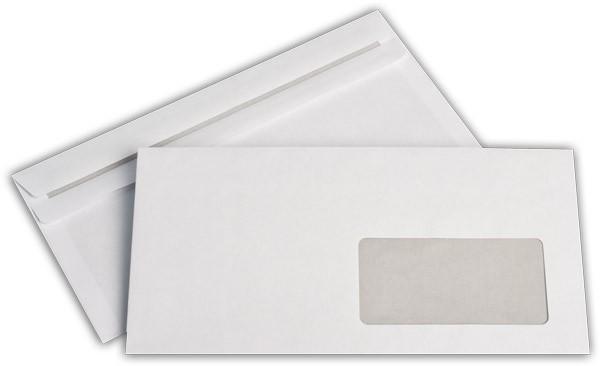 Briefumschläge m. F. Weiss innen Grau chlorfrei 114x162 mm DL 75g/qm