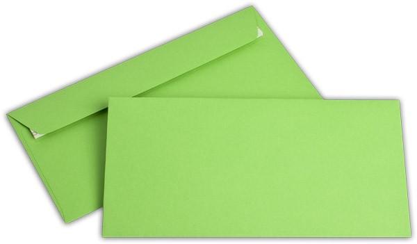 """Briefumschläge Haftstreifen """"Office Color"""" o. F. Intensivgrün 114x229 mm C6/5 100g/qm"""
