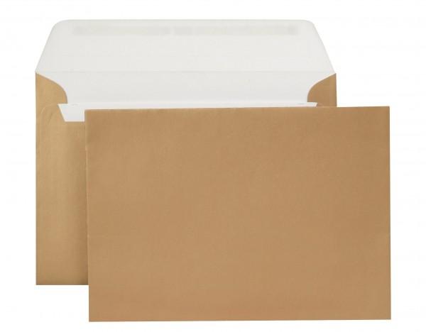 Briefumschläge Haftstreifen metallic o. F. Gold chlorfrei 114x162 mm C6 130g/qm