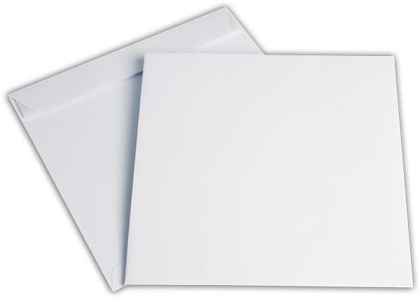 Versandtaschen Haftstreifen o. F. Weiss innen Grau chlorfrei FSC 240x240 mm 120g/qm