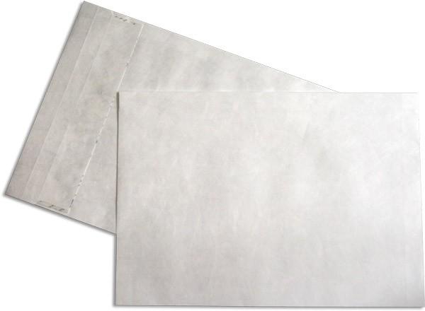 Tyvek Faltentaschen Haftstreifen Öffnung Schmalseite Weiss 250x330 mm B4a