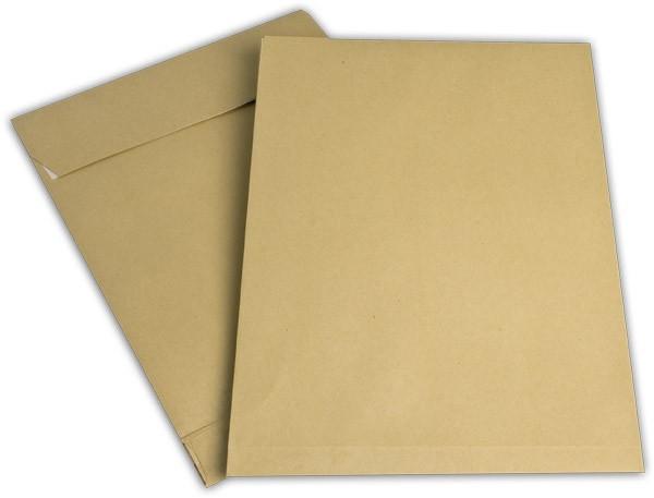 Faltentaschen mit Seiten- und Bodenfalte Braun Natron 250x353 mm Falte 40 mm B4 170g/qm