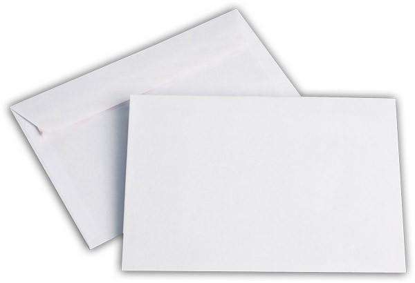 Briefumschläge Haftstreifen o. F. Weiss chlorfrei FSC 114x162 mm C6