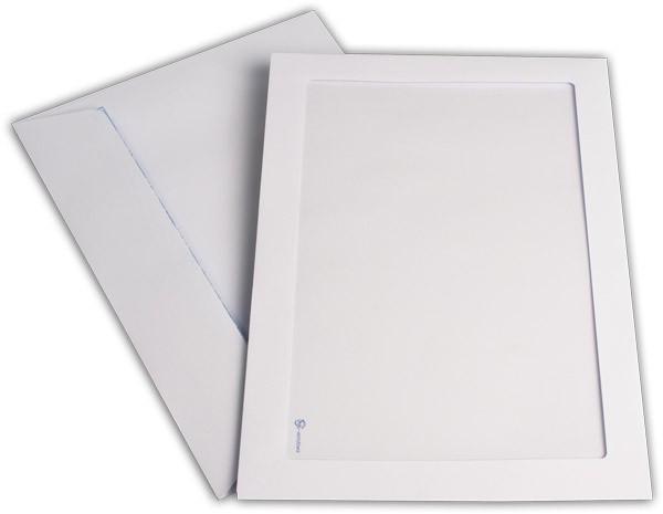 Briefumschläge mit Panoramafenster Haftstreifen Weiss chlorfrei 229x324 mm C4 120g/qm