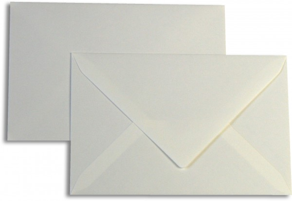 Briefumschläge Opaline Weiss halbglatt o. F. 119x181 mm 110g/qm