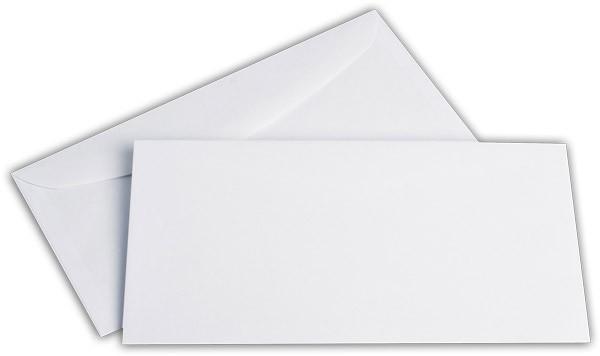 Kuvertierhüllen o. F. Weiss chlorfrei FSC 114x229 mm C6/5