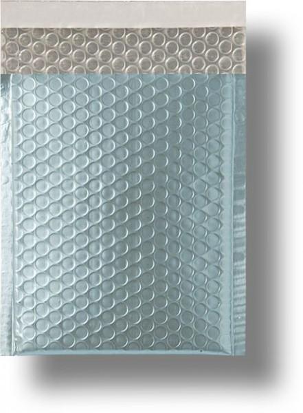 Metallic Bubble Bags Haftstreifen Eisblau matt Luftpolster 310x445 mm