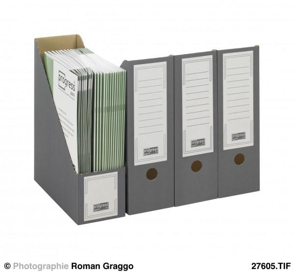 SELECT Stehsammler 262x100x320 aus Wellpappe grau
