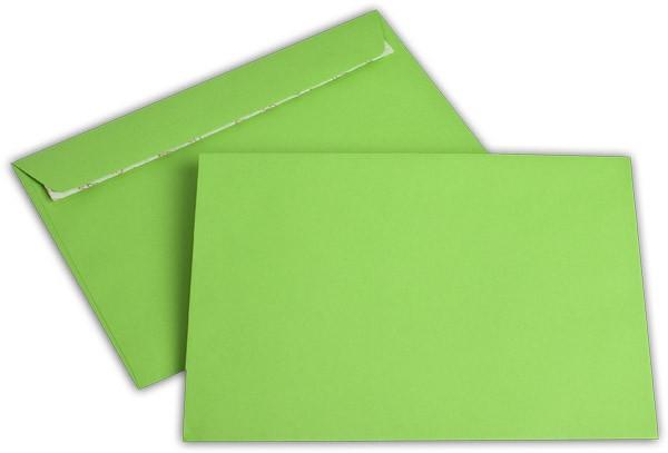 """Briefumschläge Haftstreifen """"Office Color"""" o. F. Intensivgrün 162x229 mm C5 100g/qm"""