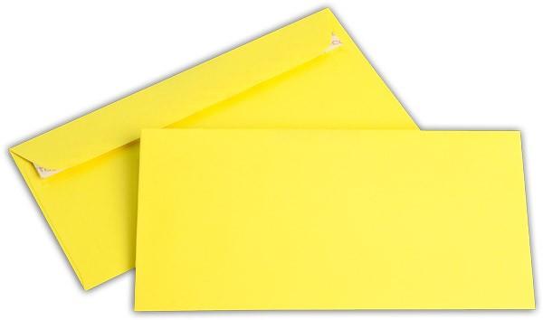 """Briefumschläge Haftstreifen """"Office Color"""" o. F. Intensivgelb 114x229 mm C6/5 100g/qm"""