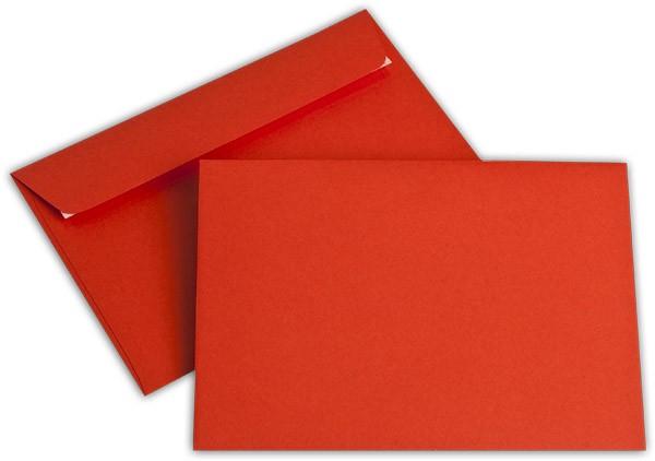 """Briefumschläge Haftstreifen """"Office Color"""" o. F. Intensivrot 114x162 mm C6 100g/qm"""