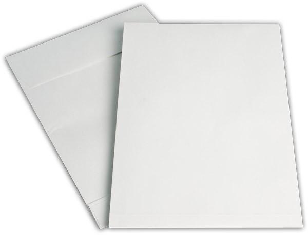 Faltentaschen mit Seiten- und Bodenfalte Weiss Natron 229x324 mm Falte 40 mm C4 150g/qm