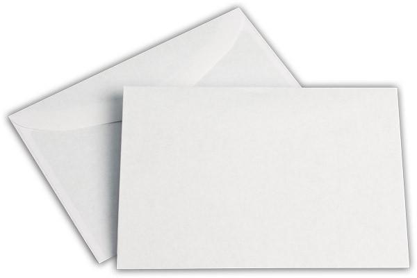 Kuvertierhüllen o. F. Weiss innen Grau chlorfrei 114x162 mm C6 75g/qm