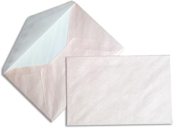 Pearls Briefhüllen nassklebend Seidenfutter Baby Pink Pearl 120x180 mm 90g/qm