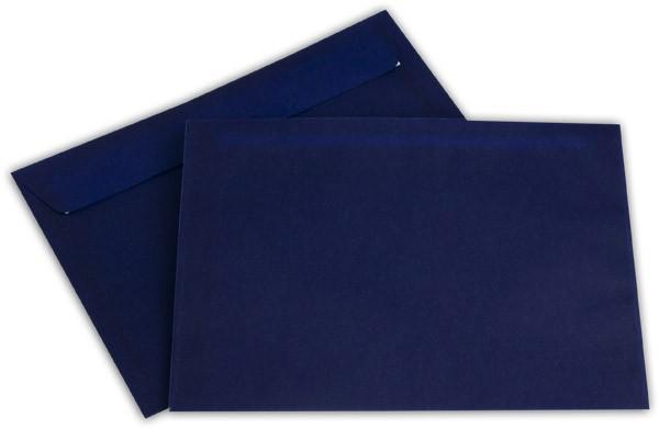 Briefumschläge transparent Haftstreifen o. F. Intensivblau 162x229 mm C5 100g/qm