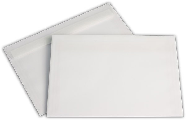 Briefumschläge transparent Haftstreifen o. F. Weiss 162x229 mm C5 100g/qm