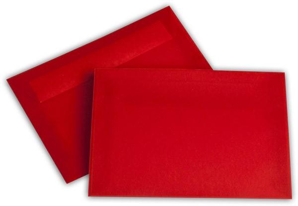 Briefumschläge transparent Haftstreifen o. F. Intensivrot 114x162 mm C6 100g/qm