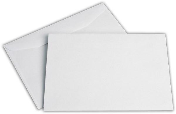 Kuvertierhüllen o. F. Weiss innen Grau chlorfrei 162x229 mm C5 80g/qm