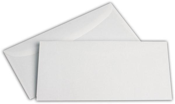 Kuvertierhüllen o. F. Weiss innen Grau ISK chlorfrei 114x229 mm C6/5 80g/qm