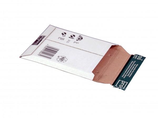 Versandtasche PREMIUM 650x540x -60 aus Wellpappe weiss und braun