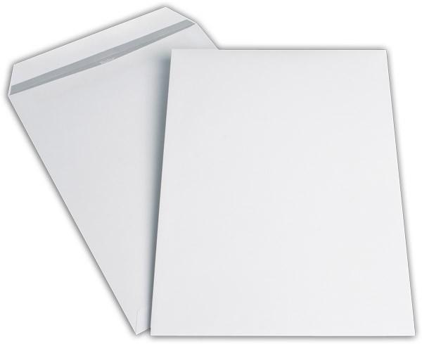 Versandtaschen o. F. Weiss innen Grau chlorfrei 229x324 mm C4 120g/qm