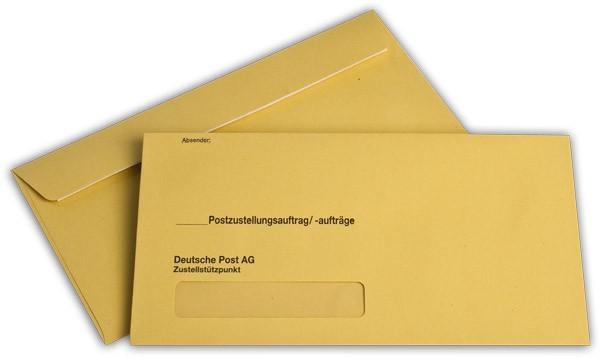 Äußere Zustellungshüllen Gelb HKS4 mit Haftklebung m. F. 125x235 mm KO