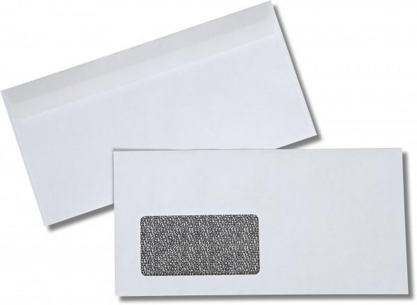 Briefumschläge Haftstreifen m. F. Weiss Zahlenwirrwarr chlorfrei 110x220 mm DL 80g/qm
