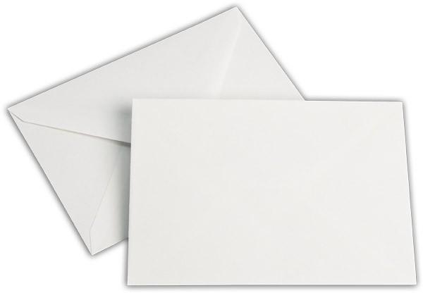 Briefumschläge nassklebend Seidenfutter Weiss chlorfrei Leinen 114x162 mm C6 100g/qm