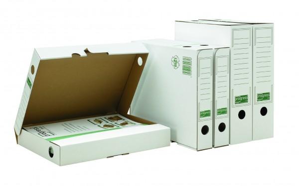 BIANCO Ablagebox 75 265x75x324 aus Wellpappe weiss