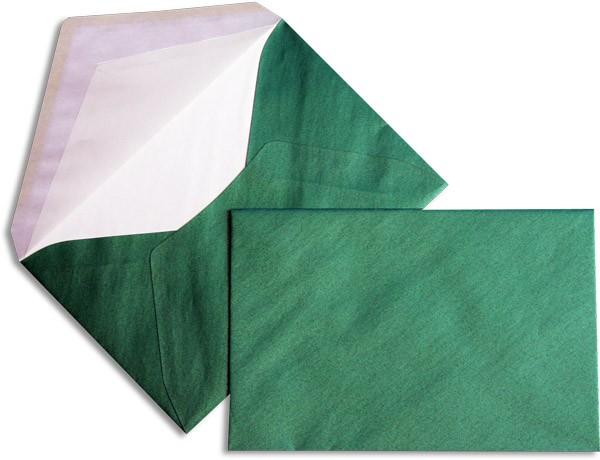 Pearls Briefhüllen nassklebend Seidenfutter Grün Pearl 120x180 mm 90g/qm