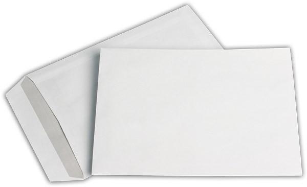 Versandtaschen o. F. Weiss innen Grau chlorfrei 176x250 mm B5 90g/qm