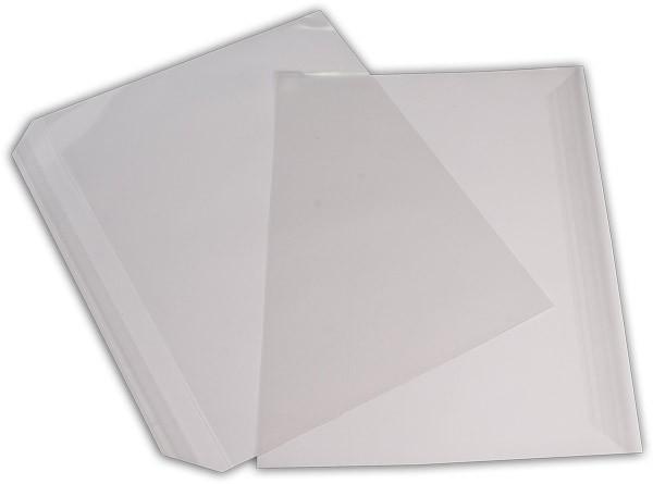Polypropylen-Briefumschläge Haftstreifen kleine Breitseite transparent 229x324+30 mm C4 100my