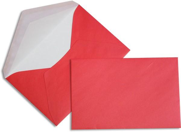 Pearls Briefhüllen nassklebend Seidenfutter Rot Pearl 120x180 mm 90g/qm