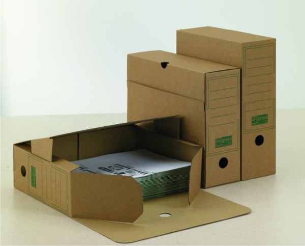 PREMIUM Ablagebox 80/100 325x265x80 aus Wellpappe braun