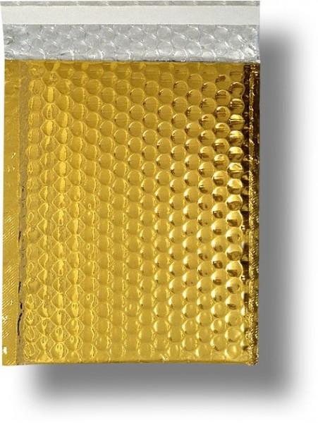 Metallic Bubble Bags Haftstreifen Gold glänzend Luftpolster 310x445 mm