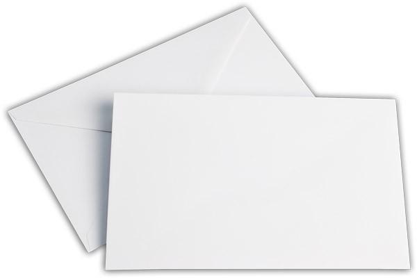 Briefumschläge nassklebend o. F. Weiss chlorfrei 120x185 mm 100g/qm