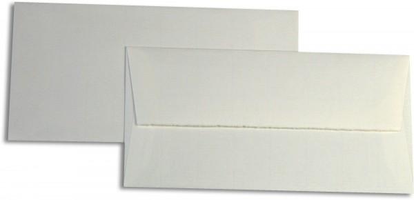 Briefumschläge Echt Bütten Weiss Echt Bütten 110x220 mm DL 100g/qm