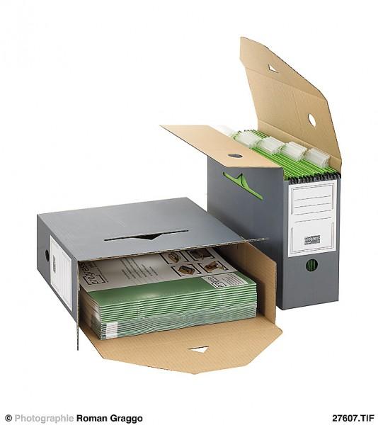 SELECT Ablagebox 120 334x120x275 aus Wellpappe grau