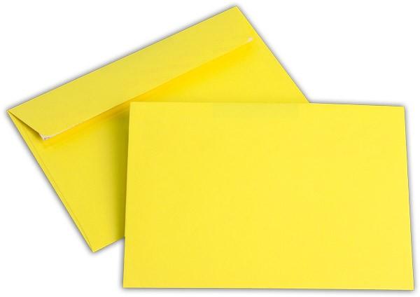 """Briefumschläge Haftstreifen """"Office Color"""" o. F. Intensivgelb 114x162 mm C6 100g/qm"""