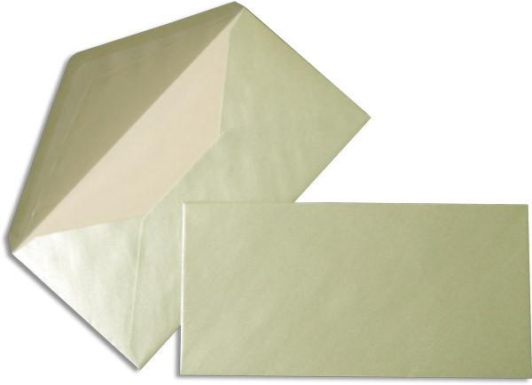 Pearls Briefhüllen nassklebend Seidenfutter Baby Blau Pearl 110x220 mm DL 90g/qm