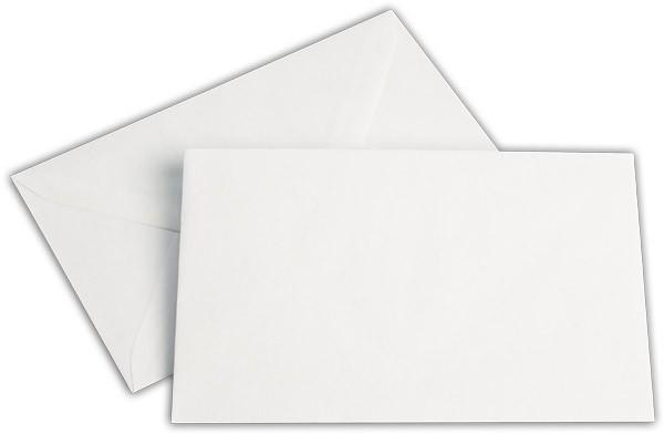 Briefumschläge nassklebend Seidenfutter Weiss chlorfrei 120x180 mm 80g/qm