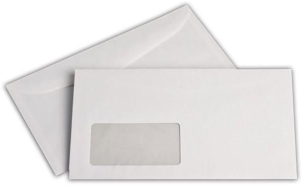 Kuvertierhüllen m. F. Weiss chlorfrei 125x229 mm 75g/qm