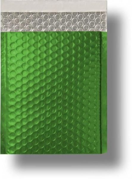 Metallic Bubble Bags Haftstreifen Grün matt Luftpolster 220x320 mm