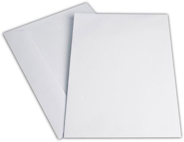 Kuvertierhüllen o. F. Weiss innen Grau chlorfrei 250x353 mm B4 120g/qm