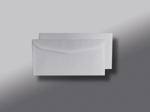 Kuvertierhüllen o. F. Weiss innen Grau ISK chlorfrei 114x229 mm C6/5 75g/qm