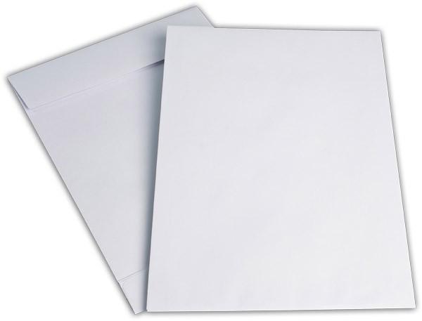 Faltentaschen mit Seiten- und Bodenfalte Weiss Offset 250x353 mm Falte 40 mm B4 140g/qm
