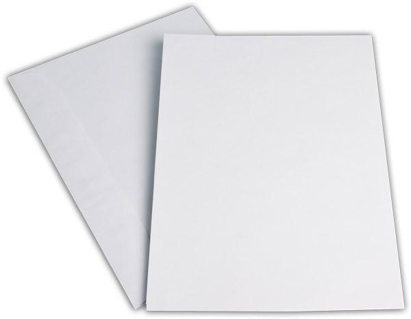 Kuvertierhüllen o. F. Weiss innen Grau chlorfrei 229x324 mm C4 120g/qm