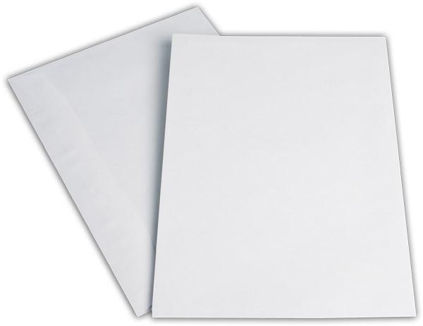 Kuvertierhüllen o. F. Weiss innen Grau chlorfrei 229x324 mm C4 90g/qm